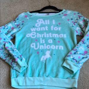 Christmas 🎄 unicorn sweater long sleeve